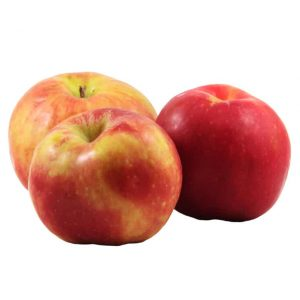 Three Gravenstein apples