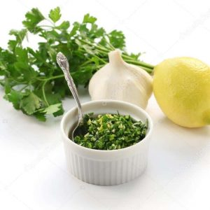 Milanese Gremolata: Flat leaf parsley, garlic, lemon & mint