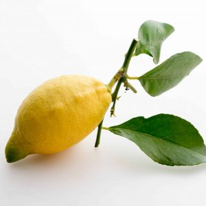 Sicilian lemon with leaves