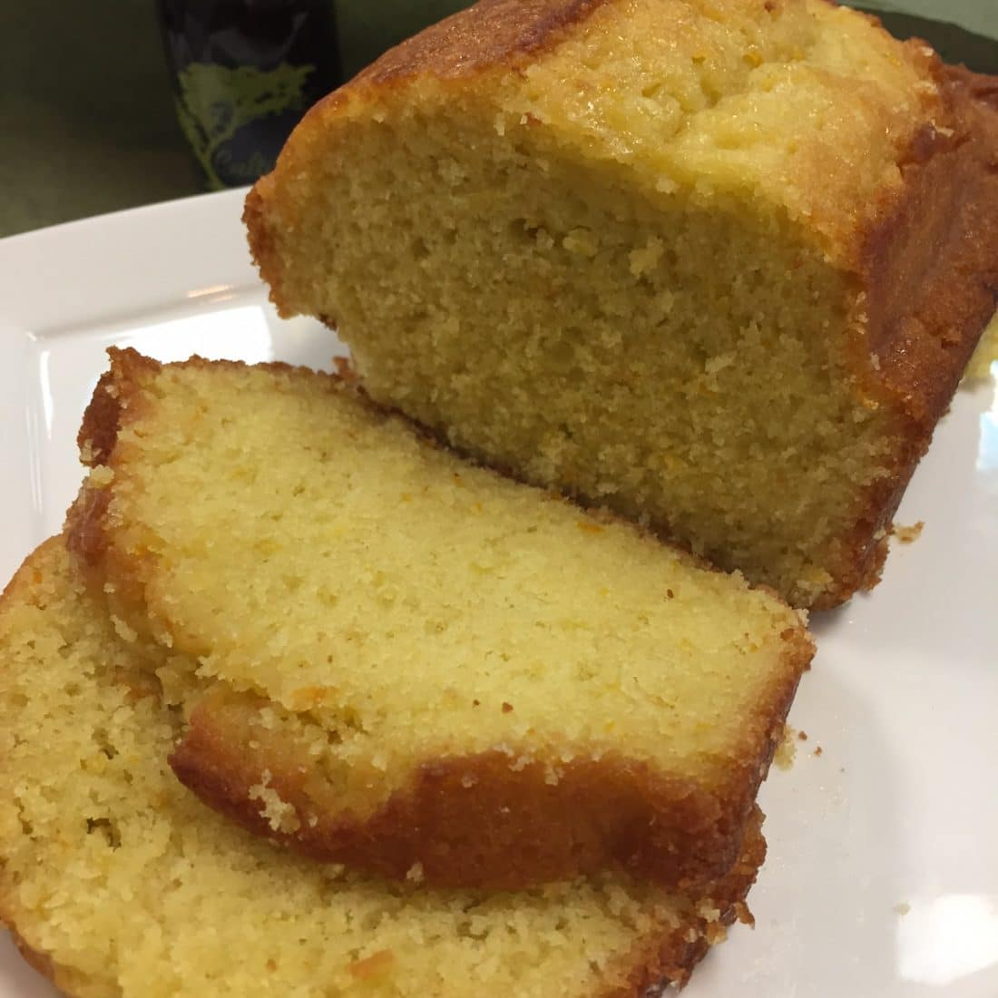 Cultivated Tree Lemon Olive Oil Cake on plate